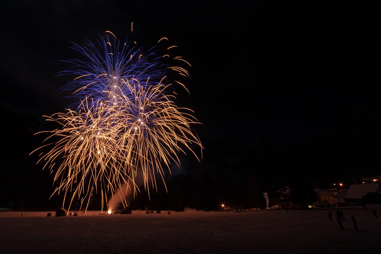 Fuochi d'artificio a Sappada